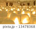 灯火 かまくら 雪祭りの写真 13478368