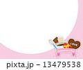 バレンタイン チョコ 背景  13479538