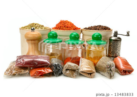Collection dry spicesの写真素材 [13483833] - PIXTA