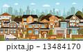 街並み 人々 人物のイラスト 13484170