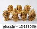 木彫り 置物 人形の写真 13486069