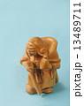木彫り 毘沙門天 置物の写真 13489711