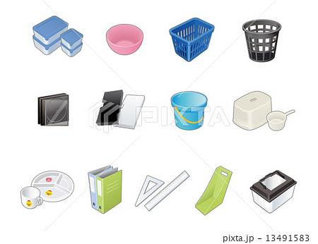 ゴミ分別収集プラスチック製品のイラスト素材 13491583 Pixta