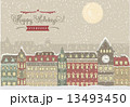 冬 クリスマス 街のイラスト 13493450