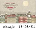 冬 クリスマス 街のイラスト 13493451