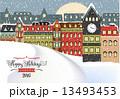 冬 クリスマス 街のイラスト 13493453