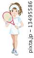 テニスガール 13495586
