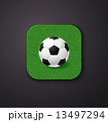 Football soccer icon stylized like mobile app. Vector illustrati 13497294
