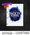 Back to school card. Chalkboard, typography design. Vector illus 13497460