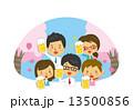 宴会 人物 桜 ビール 春  13500856