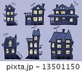 夜 戸建 家のイラスト 13501150