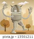 Happy robot in the city 13501211