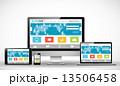 ウェブサイトのテンプレート 13506458