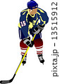 Ice hockey players.  Vector illustration for designers 13515912