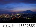 盛岡 夕暮れ 町並みの写真 13520385