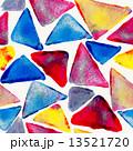 シームレス 水彩画 トライアングルのイラスト 13521720