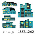 都会 夜 戸建のイラスト 13531202