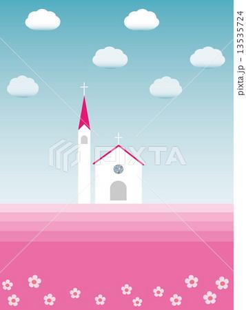 春風景 チャペルのイラスト素材 13535724 Pixta