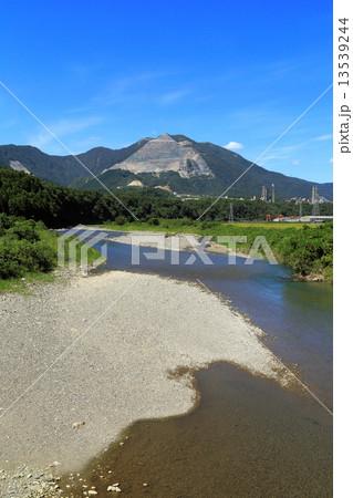 北勢大橋から見る藤原岳と員弁川 13539244