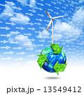 エコ 風力発電 リサイクルのイラスト 13549412