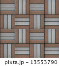 Brown and Gray Rectangles Paved. Seamless Texture. 13553790
