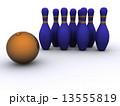 球 ボウリング ピンのイラスト 13555819