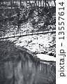 吊り橋 厳美渓 雪景色の写真 13557614
