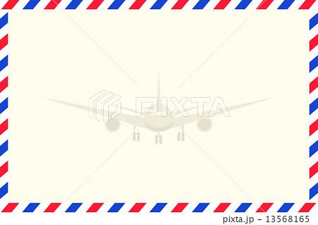 エアメール 飛行機のイラスト素材 13568165 Pixta