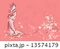 花 ベクター 桜のイラスト 13574179