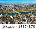 江戸川に架かる橋と都市風景 13574375