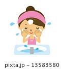 洗顔 泡 洗う 洗面所 13583580