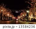 八幡坂 夜景 函館の写真 13584236