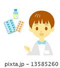 投薬 薬剤師 女性のイラスト 13585260