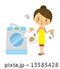 汚い 洗濯物 洗濯機 13585428