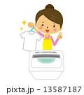 主婦 洗濯 洗濯物 Tシャツ 衣類 13587187