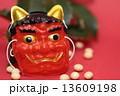 赤鬼 豆まき 節分祭の写真 13609198