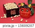 赤鬼 豆まき 節分祭の写真 13609207