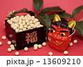 赤鬼 豆まき 節分祭の写真 13609210
