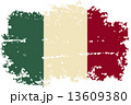 Italian grunge flag. Vector illustration. 13609380