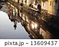 河川 川 町並みの写真 13609437