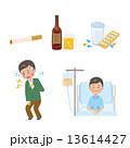 アルコール ヘビースモーカー 病気のイラスト 13614427