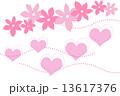 イラスト ハートと花  13617376
