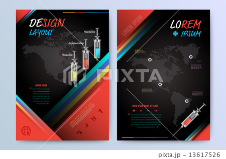 brochure flyer design layout template in a4 size のイラスト素材
