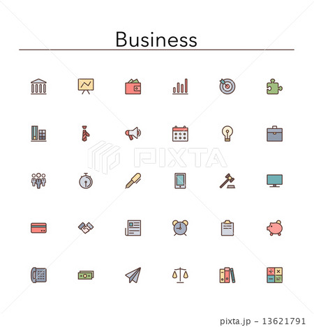 Business Colored Line Icons 13621791