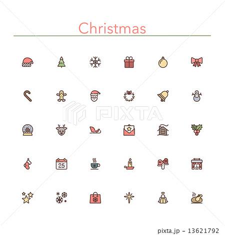 Christmas Colored Line Icons 13621792