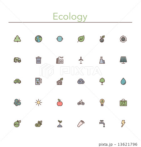 Ecology Colored Line Icons 13621796