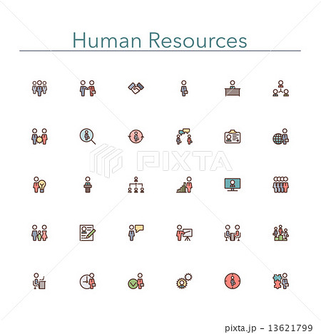 Human Resources Colored Line Icons 13621799