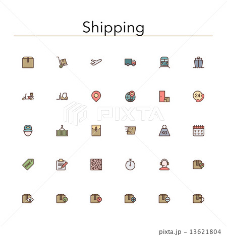 Shipping Colored Line Icons 13621804