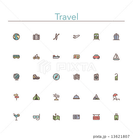 Travel Colored Line Icons 13621807