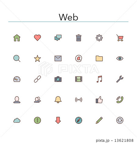 Web Colored Line Icons 13621808